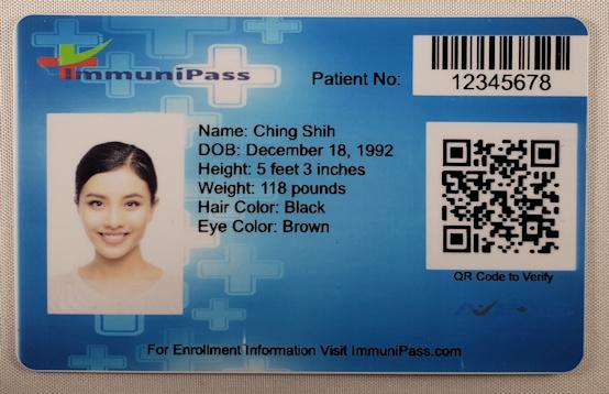 ImmuniPass Card